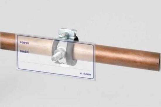 Obrázek z popisný štítek M8 na značení potrubí