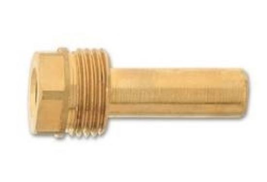 """Obrázek z Jímka teploměru 50 mm G1/2"""" mosaz., d=9mm"""